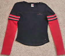 Tommy Jeans 2 In 1 TEE SHIRT TOP-Navy/Red Tee-Red Under Shirt