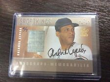 2015 Leaf Sportkings Orlando Cepeda Game Used Jersey auto Autograph 4/7 Giants