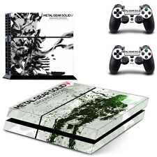 Metal Gear Solid V Decal Cover Skin Sticker for PS4 PlayStation 4 & 2 Controller