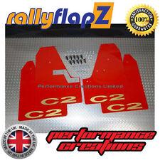 Pare-boue Style Rallye Pour Citroën C2 garde-boues rouges C2 Logo OR 3mm PVC
