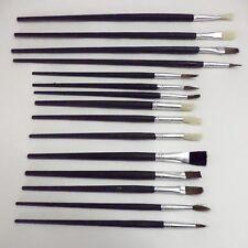 12 Piezas De Artistas Pintura sistema de cepillo fino Tamaños Hobbies Manualidades confección Cepillos Kit