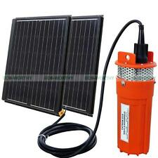 2pcs 90W Solar Panel Module with 24V Deep Well Water Pump for Farm Ranch