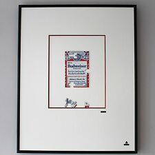 Martin Allen Can Art - Budweiser Brick Wall in Large Alluminium Frame