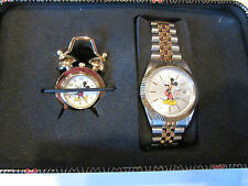 NEW Disney Mickey Mouse Character Watch and Mini Metal Alarm Set SII