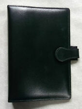 NEW BLACK REAL LEATHER STANDARD PERSONAL FILE ORGANISER 25mm DIAMETER