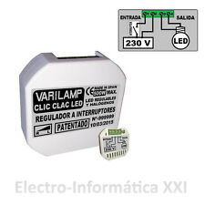 Regulador De Intensidad Clic Clac Led 100W Varilamp Interruptores Lamparas Led
