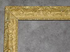 CADRE ANCIEN STYLE LOUIS XIII EN BOIS SCULPTE   48.5CMX58CM CADR460