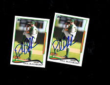 2 Paul Blackburn Kane County Cougars auto signed 2014 Topps cards CUBS