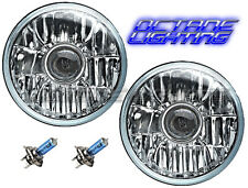 76-16 Jeep Wrangler Crystal Clear Projector Headlight Light Bulb Headlamp Pair