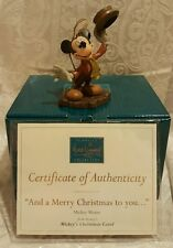 """WDCC """"And a Merry Christmas to You"""" Disney Mickey's Christmas Carol w COA 4"""""""