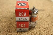 PAIR (QTY 2) 6X8A RCA VINTAGE TUBES  -  NOS IN BOXES