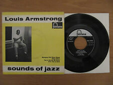 "7"" Louis Armstrong Mahogany Hall Blues Stomp Dallas GB 4 track Vinyl Single"