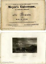 MEYER 'S universo: III. Bd., XII. consegna. con 4 acciaio lavagne chiave di 1836