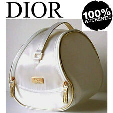 100% AUTHENTIC Exclusive DIOR JADORE COUTURE BEAUTY~MAKEUP~TRAVEL WHITE&GOLD BAG