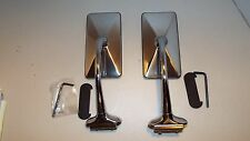 "HOT ROD, RAT ROD, FORD, 2, PAIR RECTANGLE 6"" LONG ARM PEEP OUTSIDE DOOR MIRROR"