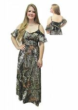 New Spaghetti Straps Camo Prom Dress Long Evening Party Bridal Gowns Custom Made