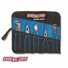 Channellock TOOLROLL-5E Piece Plier Set with Blue Grips in Handy Roll Tool