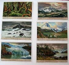 1935 Trade Card Set - Liebig's Fleisch-Extract - Views Tableaux de Terre De Feu