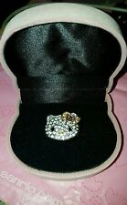 Hello Kitty crystal ring with Pink Bow and gift box NEW