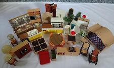 Tomy Dollhouse Furniture F P Vintage Smaller Homes 40+ Pieces Great Starter Lot