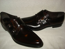 100% AUTHENTIC NEW MEN PRADA LEATHER MONK STRAP DRIVERS/LOAFERS UK 10.5/US 11.5