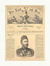 Muschir Mehmed Ali Pascha Holzstich Türkei Osmanisches Reich Karl  E 1865