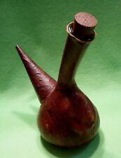 Vintage Spanish Cervantes Goat Leather-wrapped decanter bottle w/ DON QUIXOTE