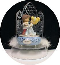 Cinderella Prince Charming Disney Wedding Cake Topper w/ music box Once Upon a