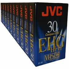 10 JVC VHS-C Tapes For High Quality Picture & HiFi Sound Compact Camcorder Video