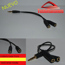 Jack male to 3.5 mm Double Out Headphone SPLITTER Earphone Aux Adaptor stereo