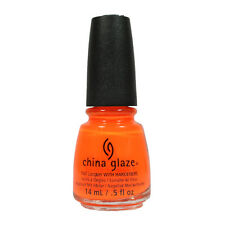 China Glaze Nail Polish Lacquer 70641 Orange Knockout 0.5floz