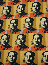Vintage Andy Warhol Chairman Mao Zedong Mao Tse-tung Men's Silk Neck Tie 1998