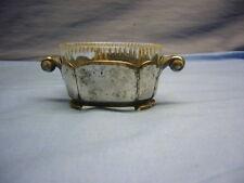 schöner kleiner versilberter Gewürzbehälter mit Glaseinsatz (1)