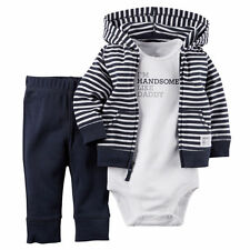 Winter Newborn 9 12 18 24 Months Cardigan Pants Set Baby Boy Kids Clothes Outfit