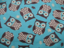"rice flax heat pad hot or cold BACK SHOULDERS  Compact 8x12"" Minty brown owls"