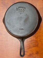 NICE WAGNER WARE SIDNEY-0-  CAST IRON SKILLET NO. 8 WITH HEAT RING P/N 1058 E