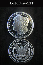 1 oz. Silver Bullion Morgan Liberty Eagle Round  .999+  pure fine mint coin