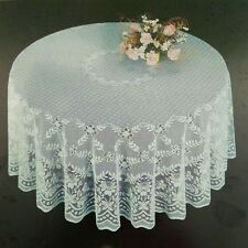 Fine White Lace Round Tablecloth 90 inches.Perfect for Wedding Party banquet