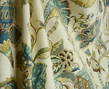 Finders Keepers French Blue Jacobean Floral Fabric