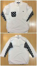 COMME DES GARCONS JUNYA WATANABE LACOSTE PATCHWORK RE-MADE 3/4 SLEEVE POLO SHIRT