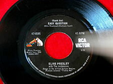 ELVIS PRESLEY~SUCH AN EASY QUESTION~IT FEELS SO RIGHT~VG+~RCA 47-8585~ ~ 45