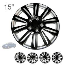 """FOR NISSAN NEW 15"""" ABS BLACK RIM LUG STEEL WHEEL HUBCAPS COVER 546"""