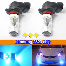 2 Ice Blue H10 9145 60W High Power Samsung 2323 LED Bulbs Driving Fog Lights DRL