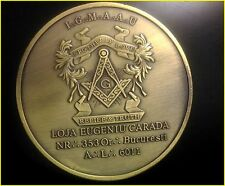 "Brotherly Love Relief & Truth Masonic  Antique Bronze Souvenir Coin 2"" or 5cm"