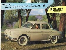 Renault Dauphine 1956-57 UK Market Small Format Foldout Sales Brochure