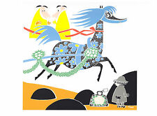 Moomin Poster Horse and Toffle Tove Jansson 24 x 30 cm