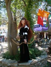 Princess Merida  Brave cosplay Scottish princess dress  green costume  woman s