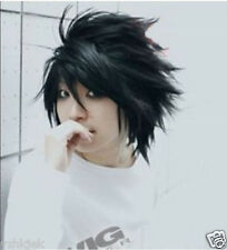 Hot Sell! Popular Death Note L Black Short Stylish Anime Cosplay Wig H607