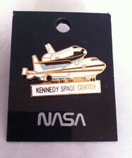 Vintage Nasa Kennedy Space Center Shuttle On 747 Pin