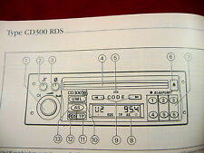 Vauxhall Audio CD 300 RDS PHILIPS  manual Radio Operation Instruction Book